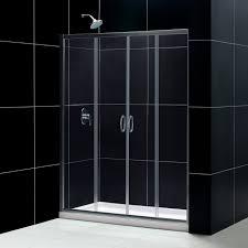 visions frameless sliding shower door 32 by 60 single threshold
