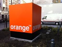 siege orange actif signal signboard signage neon and led lighting