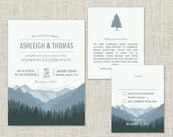 mountain wedding invitations mountain invitation etsy