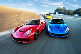 porsche ferrari head 2 head video ferrari f12 corvette stingray porsche 911 c4s
