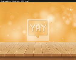 Wooden Table Background Vector Wood Table Top On Golden Bokeh Vector Abstract Background Vector