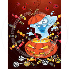 cartoon ghost halloween background cartoon ghost halloween card background by polkan toon vectors