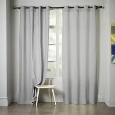 Grommet Curtains Linen Cotton Grommet Curtain Platinum West Elm