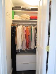 Bathroom Closet Shelving Ideas White Wooden Material For Small Closet With Drawers And Shelves