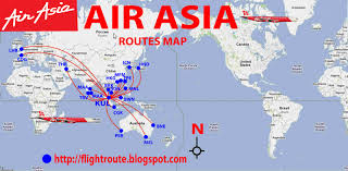 Africa And Asia Map by Air Asia Map Mexico Map