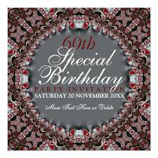 red batik diamond 60th birthday invitations u2013 wedding2k