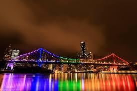 brisbane bridge lights us again for idahot 2016 in rainbow colors