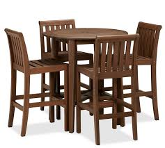 black friday value city furniture chatham round bar table u0026 barstool set dark honey pottery barn
