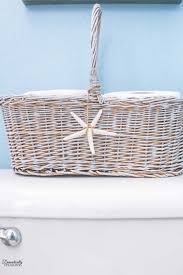 diy painted toilet paper basket domestically speaking