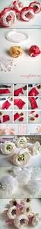 305 best ribbon flower images on pinterest fabric flowers