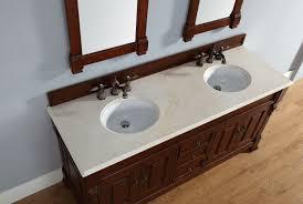 Bathroom Counter Tops Abstron 72 Inch Warm Cherry Double Bathroom Vanity Optional