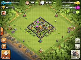 coc village layout level 5 clash of clans base designs town hall level 5 clash of clans