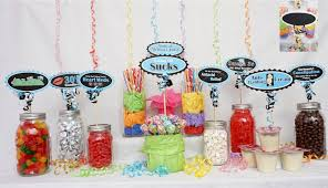 Where To Buy Candy Buffet Jars by 40th Candy Buffet Signs Available In 9 Colors 40th Birthday