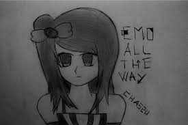 anime cute emo drawing by chassu on deviantart