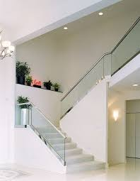 Banister Glass Glass Railings Creative Mirror U0026 Shower