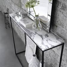 Marble Console Table with Marble Console Table Mad About The House