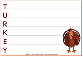 turkey acrostic poem printable