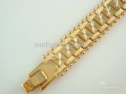 men bracelet design images New design men 39 s cool watch bracelet vogue gold plated brass jpg
