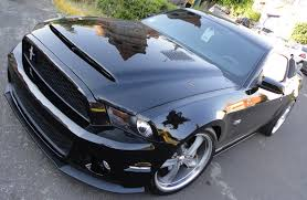 Ford Mustang 2014 Black Ford Mustang Gt500 Black Mamba Hood 2010 2014