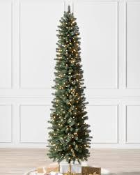 slim christmas tree with led colored lights sonoma pencil christmas tree balsam hill
