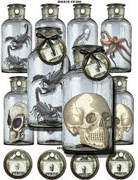 printable halloween specimen jar labels halloween printable labels gothic macabre apothecary specimen jar