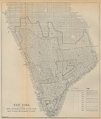 Map Showing New York by