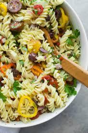 easy pasta salad vegan antipasto pasta salad wholefully