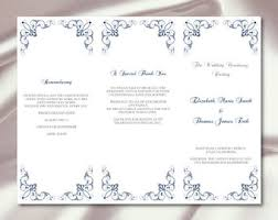 Wedding Programs Trifold Tri Fold Program Etsy