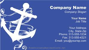 ship anchor white business card