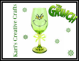 sale the grinch wine glass how the grinch stole christmas