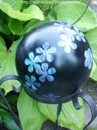 Garden Sphere Balls Spittin Toad From Bowling Balls To Garden Art