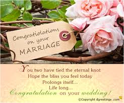 wedding wishes on wedding congratulations card