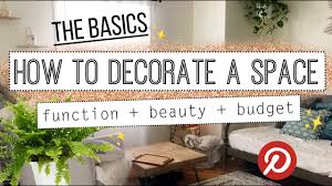 how to decorate your home minimalist decorating basics 101 youtube