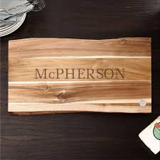 cutting board engraved the classic cut personalized wood cutting board 11x17