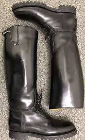 mc riding boots dehner motorcycle high shine patrol bal laced cop boots used 9 5 d