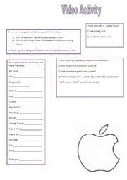english worksheets steve jobs