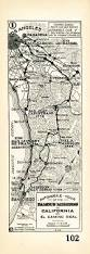 San Gabriel Map 1915 Auto Club Strip Map Showing The Route Of El Camino Real From