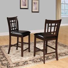 banbury dark cherry mission 24 inch high back counter stools set