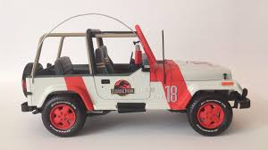 jurassic world jeep toy custom jurassic park jeep wrangler open top 1 24 tamiya toy