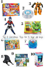what are the best toys for 5 year boys toys top