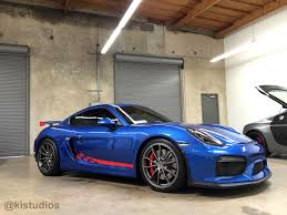 martini stripe ki studios door checkered stripes for porsche 981 cayman gt4