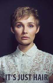 pixie haircut stories clare bowen cuts off hair to prove to girls with cancer that it s