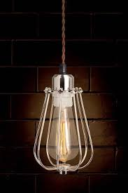 Caged Pendant Light Yann Classic Industrial Cage Pendant Light My Furniture