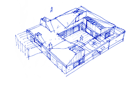 House Drawing by Gallery Of Roof House Leth U0026 Gori 18