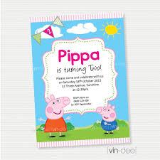 peppa pig birthday invitation diy printable