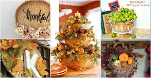 15 and creative ways to decorate with baskets this thanksgiving
