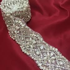 bridal sash 2018 pearl and rhinestone bead trim bridal sash belt