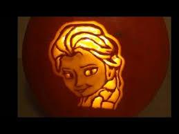printable pumpkin stencils elsa how to carve a disney frozen elsa pumpkin for halloween youtube
