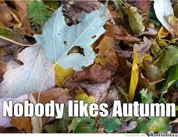 Autumn Memes - autumn does not like autumn by rhedx meme center