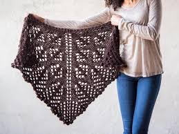 prairie lace shawl knitting kit craftsy